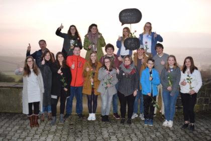 """Das """"gud so-Team"""" beim Treffen auf dem Mosenberg, bei """"anorak21 e.V."""". Foto: nh"""