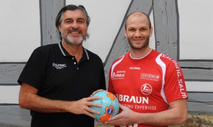 Michael Roth mit Heiko Grimm (v.l.). Foto: Heinz Hartung