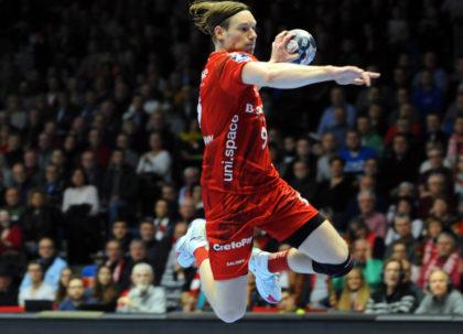 Der beste MT-Torschütze des Spiels war Tobias Reichmann (8). Foto: Heinz Hartung