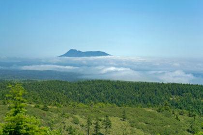Blick über die Vulkaninsel Kunaschir. Foto: Peter Romanow