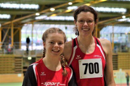 Vivian Groppe und Luise Zieba hatten einen gelungenen und vielversprechenden Jahresauftaikt beim Hallensportfest in Dortmund. Foto: nh