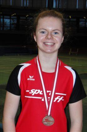 Vivian Groppe - Bronzemedaille im 60m-Sprint der W14. Foto: nh