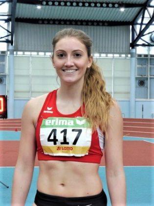 Sophia  Hog verbesserte sich im 60m-Vorlauf auf 8,14 Sekunden. Foto: nh