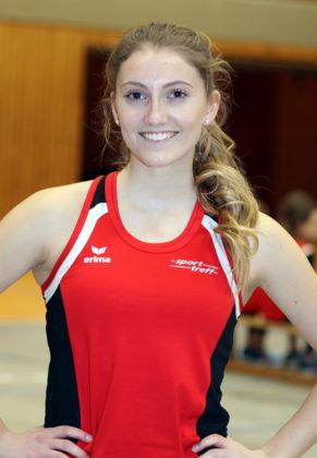 Sophia Hog sorgte mit ihrem Kreisrekord über 50 Meter  für den Höhpunkt bei den Kreis-Hallenmeisterschaften der Männer, Frauen und Jugend. Foto: Lothar Schattner