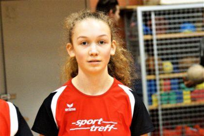 Ella Gleim wollte nur das 50-Meter-Finale der W15 erreichen und wurde überraschend Hallen-Kreismeisterin. Foto: nh