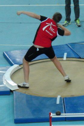 Luis André stieß 13,77 m und siegte damit in der Sportarena in Leipzig. Foto: nh
