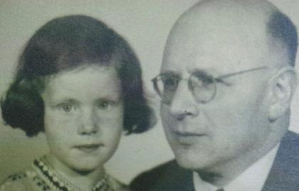 Leopold Löwenstein mit Tochter Marianne, ca. 1941. Foto: Archiv Thomas Schattner
