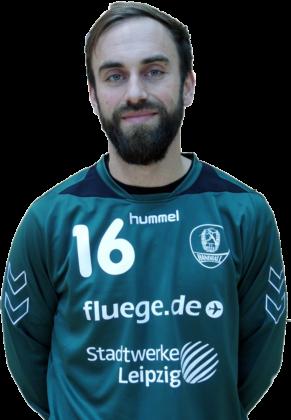 Der 33-jährige Torhüter Mathias Lenz wird ab sofort bei der MT Melsungen als Backup für Johan Sjöstrand aushelfen. Foto: SC DHfK Leipzig
