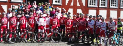 Tolle Resonanz im vergangenen Jahr: Fast 70 Radsportler aus ganz Nordhessen nahmen an dem Saisoneröffnungsevent in Melsungen teil. Foto: Dieter Vaupel