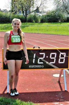 Sophia Hog siegte im 100-Meter-Lauf der WU20. Foto: nh