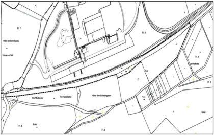 Der Geltungsbereich des Bebauungsplans ist, wie in der Skizze dargestellt, abgegrenzt. Quelle: Stadt Melsungen