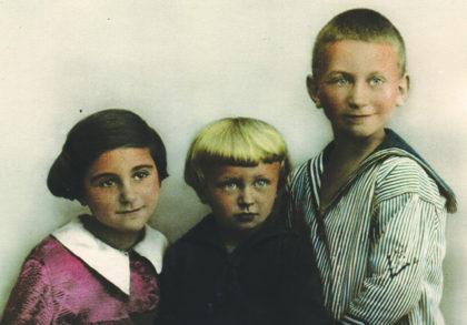 David Silberberg mit seinen Geschwistern Fred und Ann (v.r.) 1930. Foto: nh