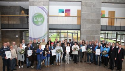 Die Preisträger der EAM-Stiftung aus dem vergangenen Jahr. Foto: nh