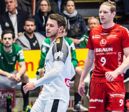 Im Hinspiel im Februar noch Gegner, ab nächster Saison Mannschaftskameraden: Yves Kunkel (li.) und Tobias Reichmann. Foto: Alibek Käsler