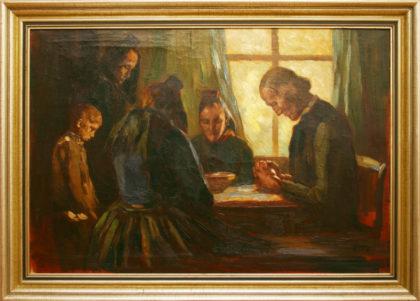 """Das """"Schwälmer Tischgebet"""" von Rudolf Otto. Foto: nh"""