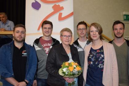 Jonas Bickmann (Beisitzer), Tobias Stang (Jugendwart), Maria Nohl (Jugendwartin), Julius Kistner (Beisitzer), Sarah Janassek (Beisitzerin) und Julius Kix (Jugendsprecher) (v.l.). Foto: nh