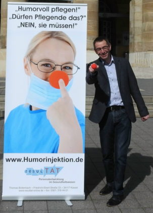"""Humorworkshop"" in Treysa am 26. Mai 2018 mit Thomas Bollenbach. Foto: nh"