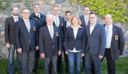 Dirk Schütz, Christoph Eich, Andreas Weil, Rudolf Keller, Michael Hohmann, Sören Sänger, Siri Metzger, Olaf Schnückel, Fabian Hubert und Ralf Gödtel (v.l.). Foto: nh