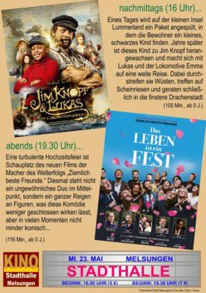 Kinotag am 23. Mai 2018 in der Stadthalle Melsungen.