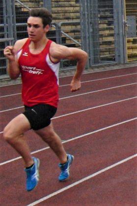 Der 17-jährige Marvin Knaust verbesserte sich im 400 Meter-Lauf auf 52,83 Sekunden. Foto: nh