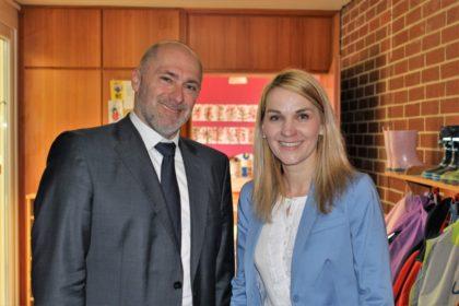 René Rock, Vorsitzender der FDP-Fraktion im Hessischen Landtag, und Wiebke Knell, Mitglied des Hessischen Landtags und Vorsitzende der FDP-Kreistagsfraktion. Foto: nh