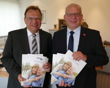 Landrat Winfried Becker und Erster Kreisbeigeordneter Jürgen Kaufmann (v.l.). Foto: nh