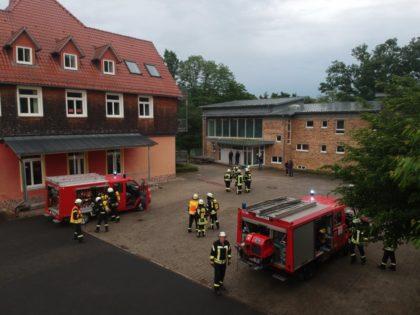 Pfingstübung der Feuerwehren Trutzhain und Steina. Foto: nh