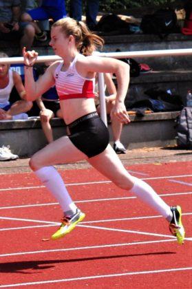 Vivan Groppe holte sich mit neuer Bestzeit den Titel über 100 Meter mit 12,96 Sekunden. Foto: nh