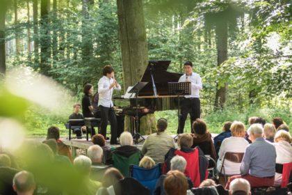Kultursommer Nordhessen: Waldkonzert im Reinharswald mit der Musikakademie Louis Spohr. Foto: Heiko Meyer
