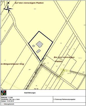 Karte zur 5. Änderung des Flächennutzungsplanes Melsungen. Grafik: nh