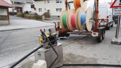 Kabelverlegung im Schacht. Foto: ©Breitband Nordhessen GmbH | nh