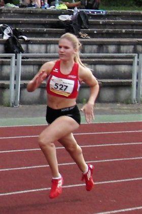 Nach der Vizemeisterschaft im Jahr 2018 holte sich Franziska Ebert dieses Jahr die Bronzemedaille über 400 Meter der U20. Foto: nh