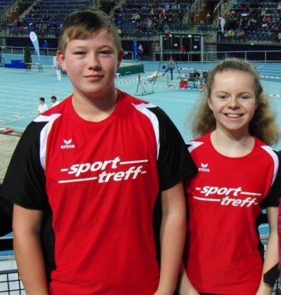 Vivian Groppe und Luis André fahren mit Medaillenchancen nach Darmstadt zu den Landesmeisterschaften der U16. Foto: nh