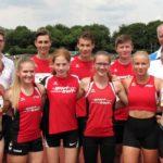 Sechs Medaillen und acht Bestleistungen, die erfolgreichen Nachwuchsleichtathleten der MT Melsungen. Foto: nh