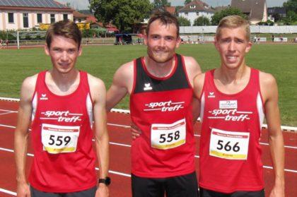 Die Melsunger Männer mit Moritz Knaust, Christof Möller und Lorenz Funck liefen über 3x1000 Meter 8.26 Minuten und belegten damit Rang acht. Foto: nh