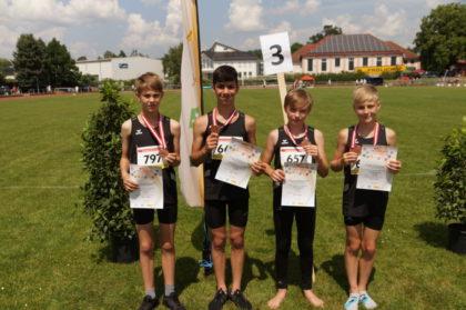 Die 4x75 Meter Staffel MU14 gewann die Bronzemedaille. Foto: B. Feldmann