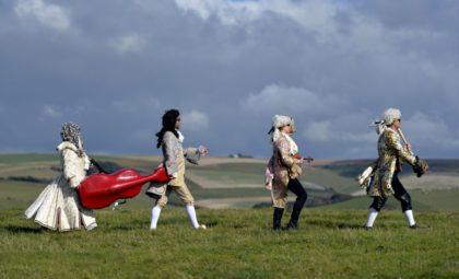 """Die Red Priests spielen """"Handel in the Wind"""". Foto: nh"""