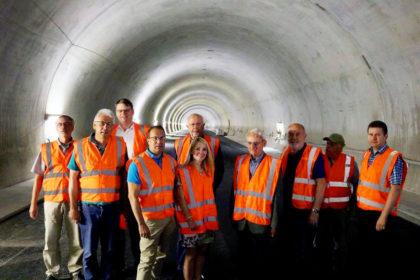 A44 Besuchergruppe im Tunnel Hirschhagen. Foto: nh