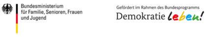 BMFSFJ DemokratieLeben. Logo: nh