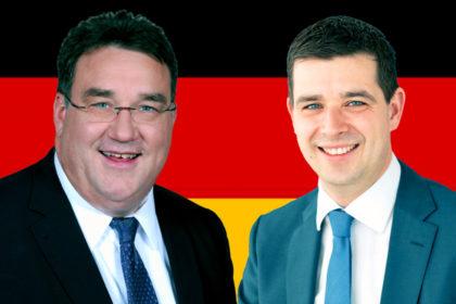 Mark Weinmeister und Matthias Wettlaufer. Montage: Schmidtkunz
