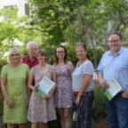 Besuch bei der AGA (v.li.): Alf Dickhaut, Dr. Bettina Hoffmann, Reinhold Orth, Miriam Ibold, Susanne Regier, Andreas Grede. Foto: nh