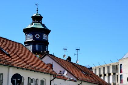 Treppenturm JVA Schwalmstadt. Foto: Schmidtkunz