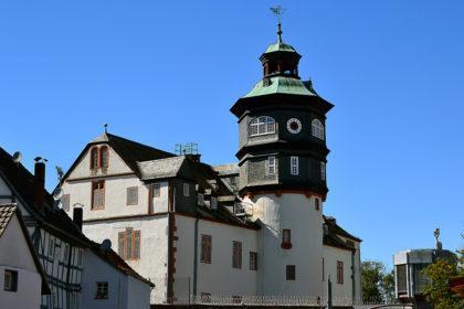 Treppenturm der JVA Schwalmstadt. Foto: Schmidtkunz