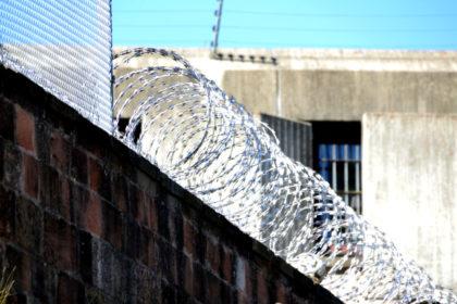 Stacheldrahtverhau auf der Mauer hinter dem Lüdertor. Foto: Schmidtkunz