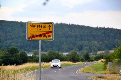 Kreisstraße K29 von Obermelsungen nach Malsfeld. Foto: Schmidtkunz