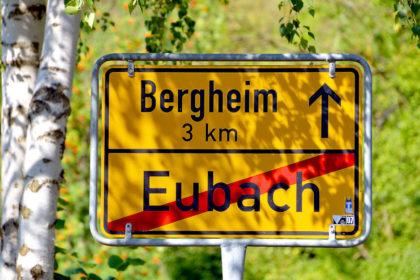 Drei Kilometer L3225 liegen zwischen Eubach und Bergheim. 1,9 km davon wurden nun saniert. Foto: Schmidtkunz