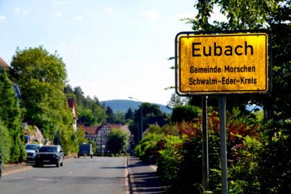 Ortseinfahrt Eubach von Bergheim kommend. Foto: Schmidtkunz