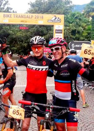 Thorsten Damm und Peter Vesel haben sich im transalpinen Rennen den 4. Rang gesichert. Foto: Damm | nh