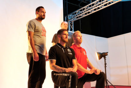 V.li.: Philipp Müller, Domagoj Pavlovic, Tobias Reichmann, Johan Sjöstrand. Foto: Käsler | nh