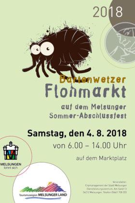 Plakat zum Bartenwetzer Flohmarkt. Repro: nh